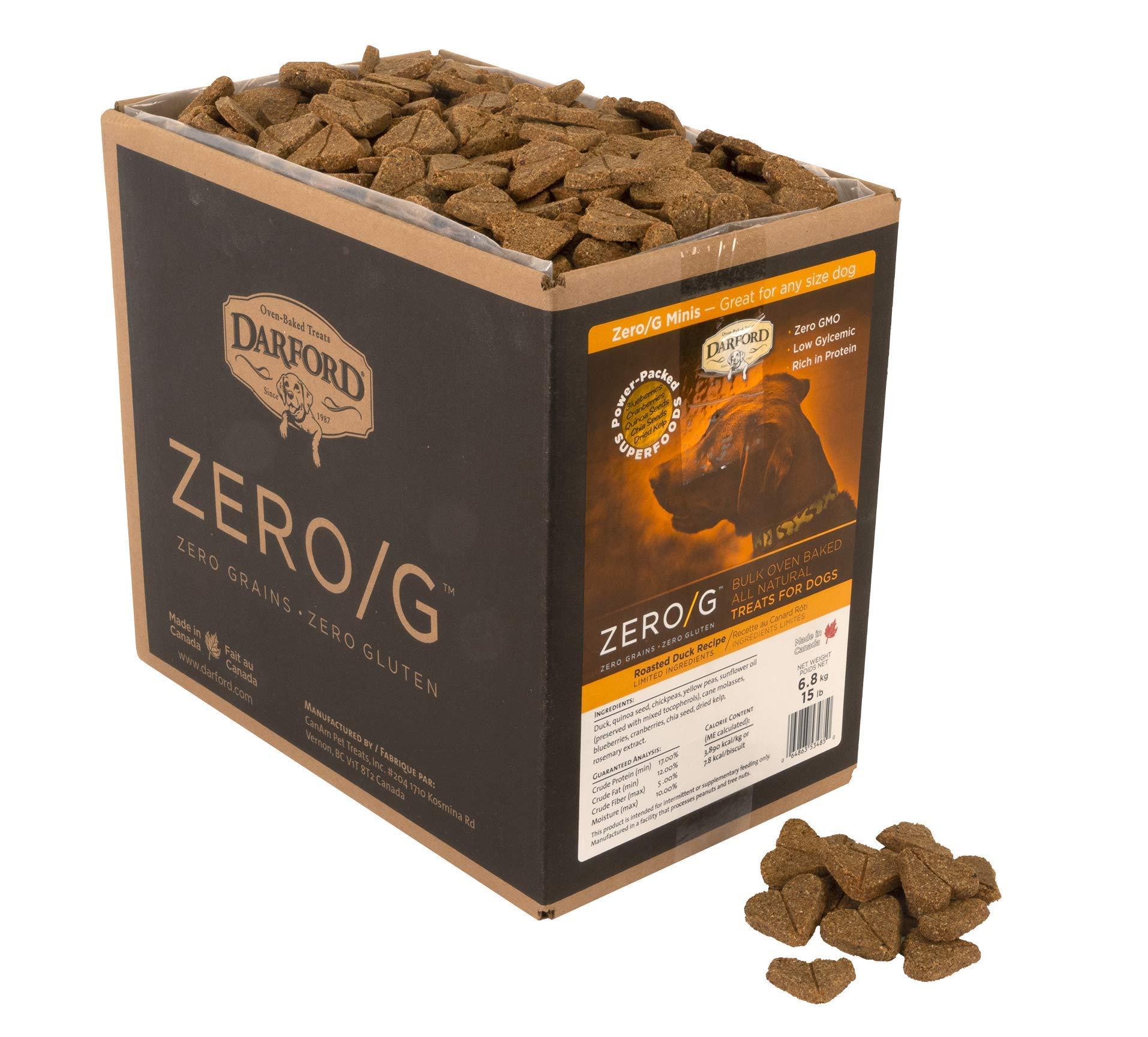 Zero/G Roasted Duck Dog Treats, Mini/15 lb by Darford