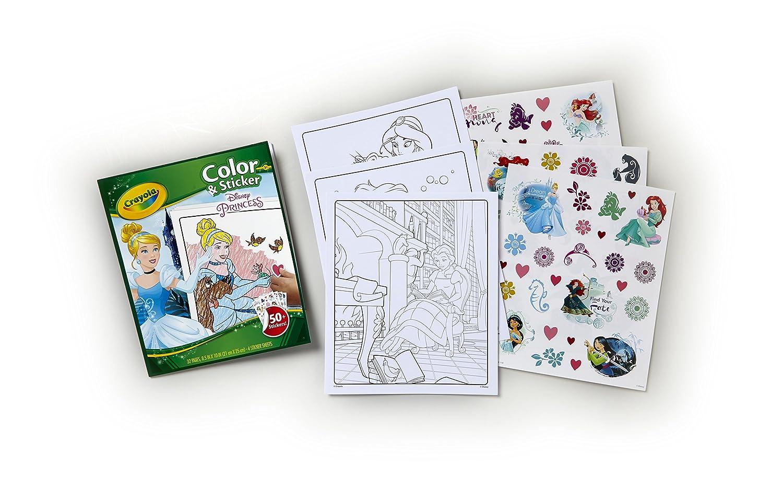 Crayola Disney Princess Color n Sticker Book Dealfisher 04-0202