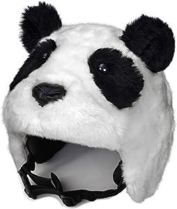 crazeeHeads Plush Animal Girls and Boys Helmet Covers, Bike Ski Winter Snow, Panda, Pig, Unicorn, Snow Leopard, Zebra, Alligator, Raccoon, Penguin…