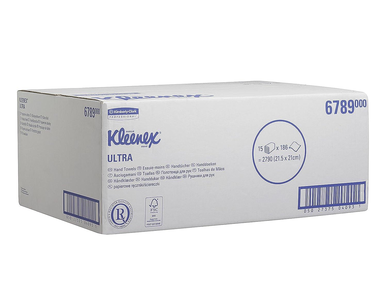 Kleenex 6789 Secamanos Interplegadas, 15 Paquetes X 186 con 2 Capas, Blanco: Amazon.es: Industria, empresas y ciencia