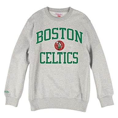 Mitchell & Ness NBA Boston Celtics Kyrie Irving Playoff Win Crew, Sudadera sin Capucha para