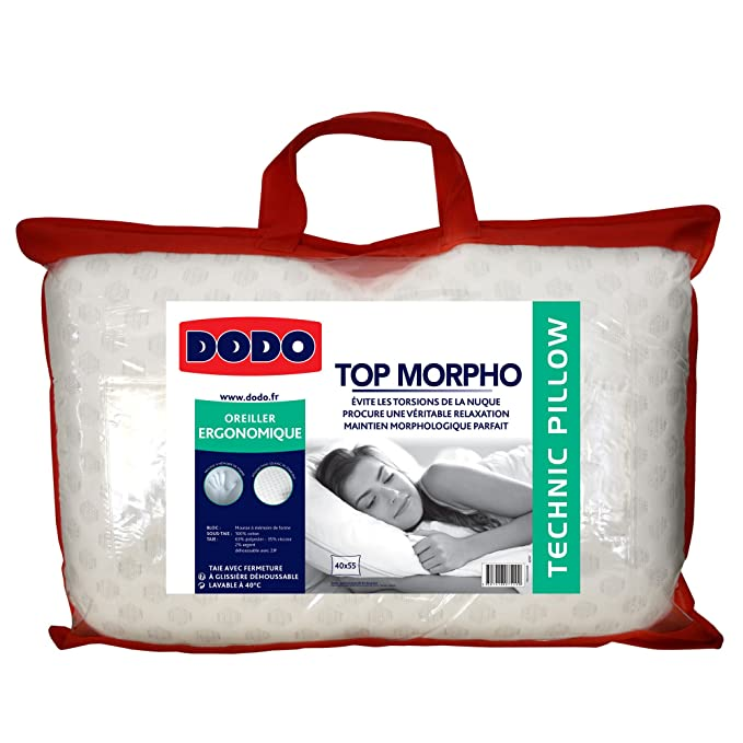 oreiller morphologique dodo Dodo 6076040 Top Morpho Oreiller Blanc 40 x 55 cm: Amazon.fr  oreiller morphologique dodo