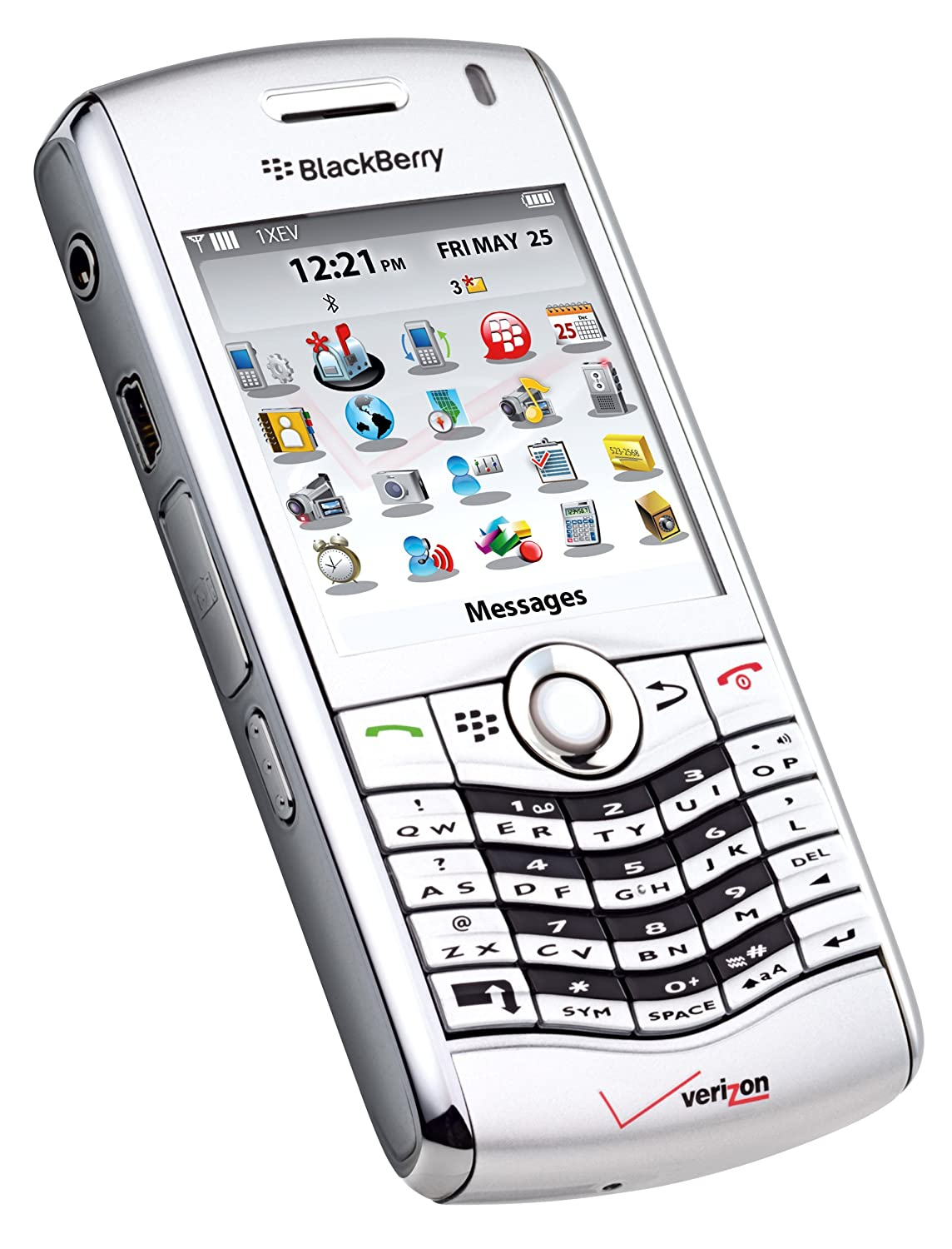 Amazon.com: BlackBerry Pearl 8130 Phone, Silver (Verizon Wireless): Cell  Phones & Accessories