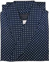 Robe de Chambre en Soie - Bleu Marine à Pois - Homme – Peignoir