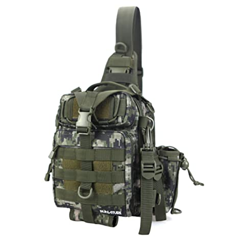 Just Military Tactical Chest Pack Fly Equipment Nylon Wading Chest Pack Cross Body Sling Single Shoulder Bag A Great Variety Of Goods Camping & Hiking Climbing Bags
