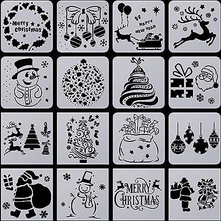 Airbrush Schablone Rentier Rudolf 3 Weihnachten Mal Vorlage 7