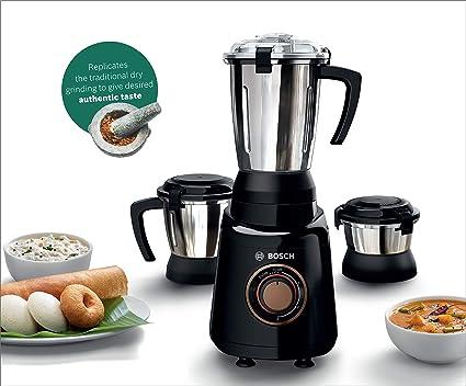 Bosch Appliances Truemixx Bold 600 Watt Mixer Grinder With 3 Jars Black