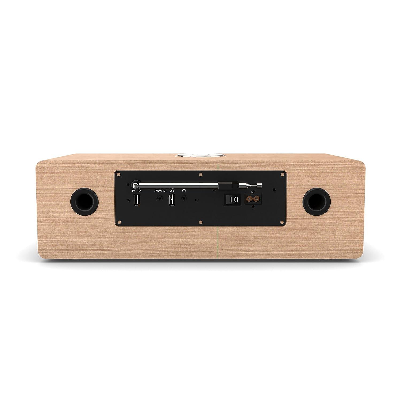Majority Oakington Radio FM T/él/écommande AUX in 30W Hi-FI Lecteur CD Noir Lecteur et Charge Double USB R/éveil Connexion TV Radio num/érique Dab//Dab+ Bluetooth