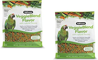 product image for ZuPreem VeggieBlend Smart Pellets Bird Food for Parrots & Conures, 3 LB Bags (2-Pack) - Made in The USA, Daily Nutrition, Essential Vitamins, Minerals for African Greys, Amazons, Eclectus, Cockatoos