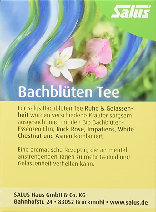 Salus Bachblüten-Tee Ruhe und Gelassenheit Bio 15 FB, 2er Pack (2 x ...