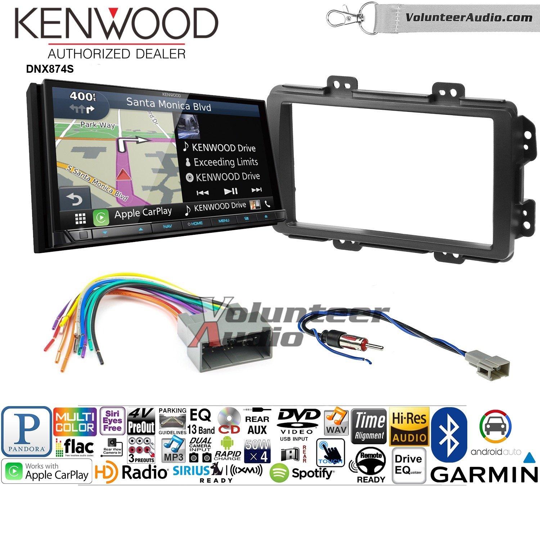 ボランティアオーディオKenwood dnx874sダブルDINラジオインストールキットwith GPSナビゲーションApple CarPlay Android自動Fits 2013 – 2014ホンダシビック( with工場Nav ) B07BYXR3YT