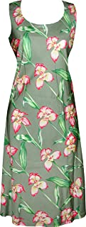 product image for Paradise Found Womens Orchid Panel Short Tank Dress Olive XL
