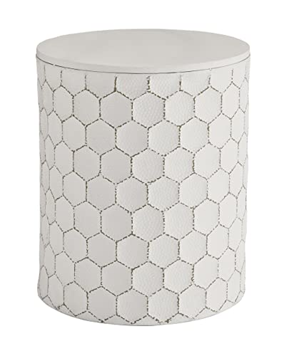 Signature Design by Ashley – Polly Stool End Table – White Gold