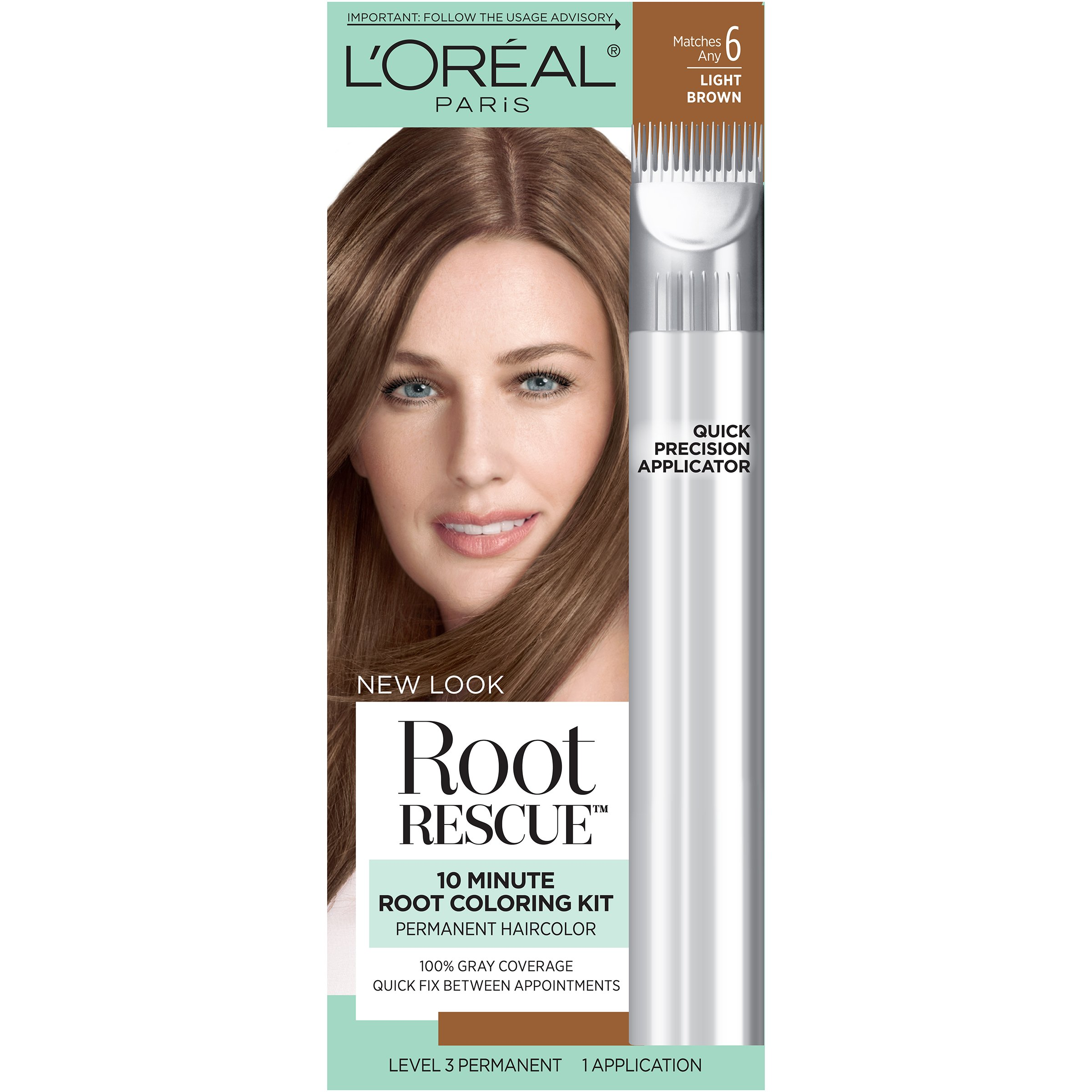 L'Oréal Paris Root Rescue Hair Color, 6 Light Brown