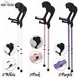 Vilgo Modern Non-Slip Adjustable Pastel Crutches (White)
