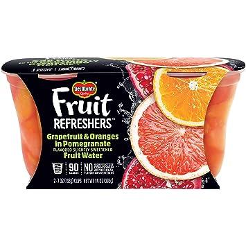 Grapefruit & Oranges in Grapefruit & Oranges in Pomegranate Fruit Water