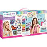 Make It Real - Mega Jewelry Studio - DIY Bead Necklace and Bracelet Making Kit for Tween Girls - Arts and Crafts Kit…