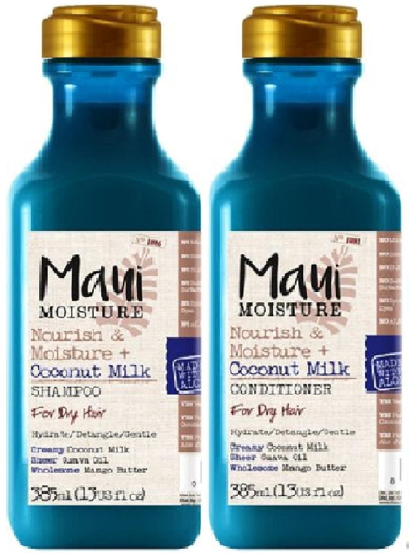 (2Pack) Maui Feuchtigkeit Nähren & Feuchtigkeit Coconut Milk SHAMPOO X 385ml & Maui Feuchtigkeit Nähren & Feuchtigkeit Coconut Milk Conditioner X 385ml normale bis trockene Haar 17052