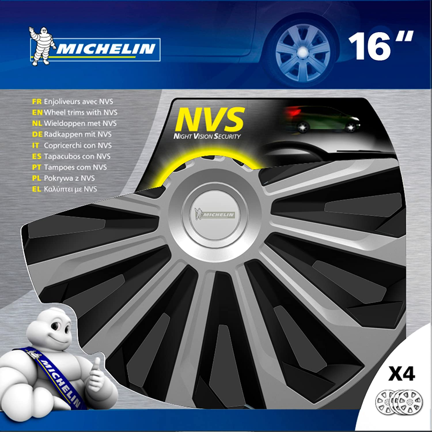 Amazon.com: MICHELIN 009132 Wheel Trims, Two-Tone, 16