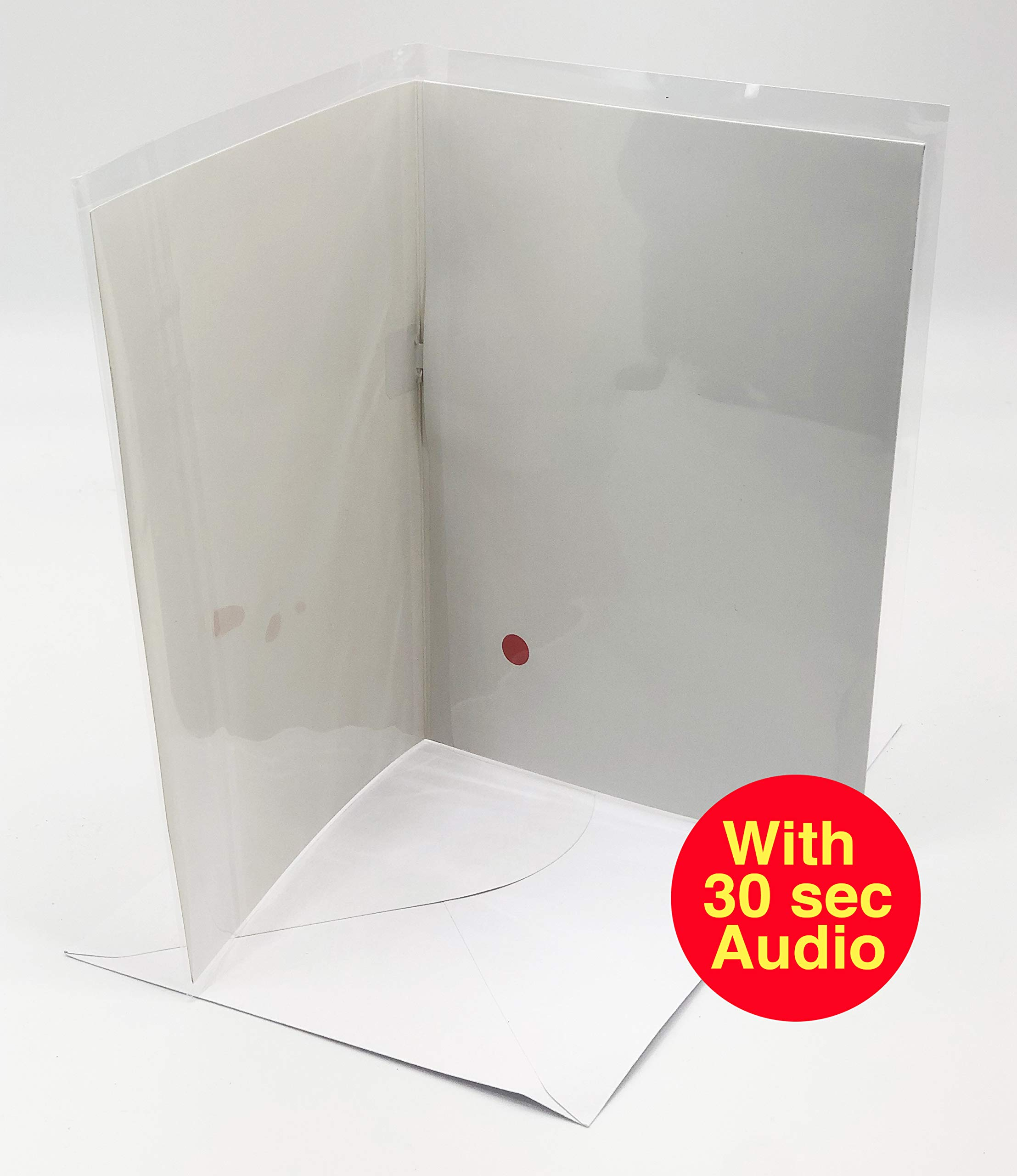 Recordable blank pulley activated A5 Greetings Cards. 30 second audio. Perfect for unique make your own cards. Immediate dispatch.
