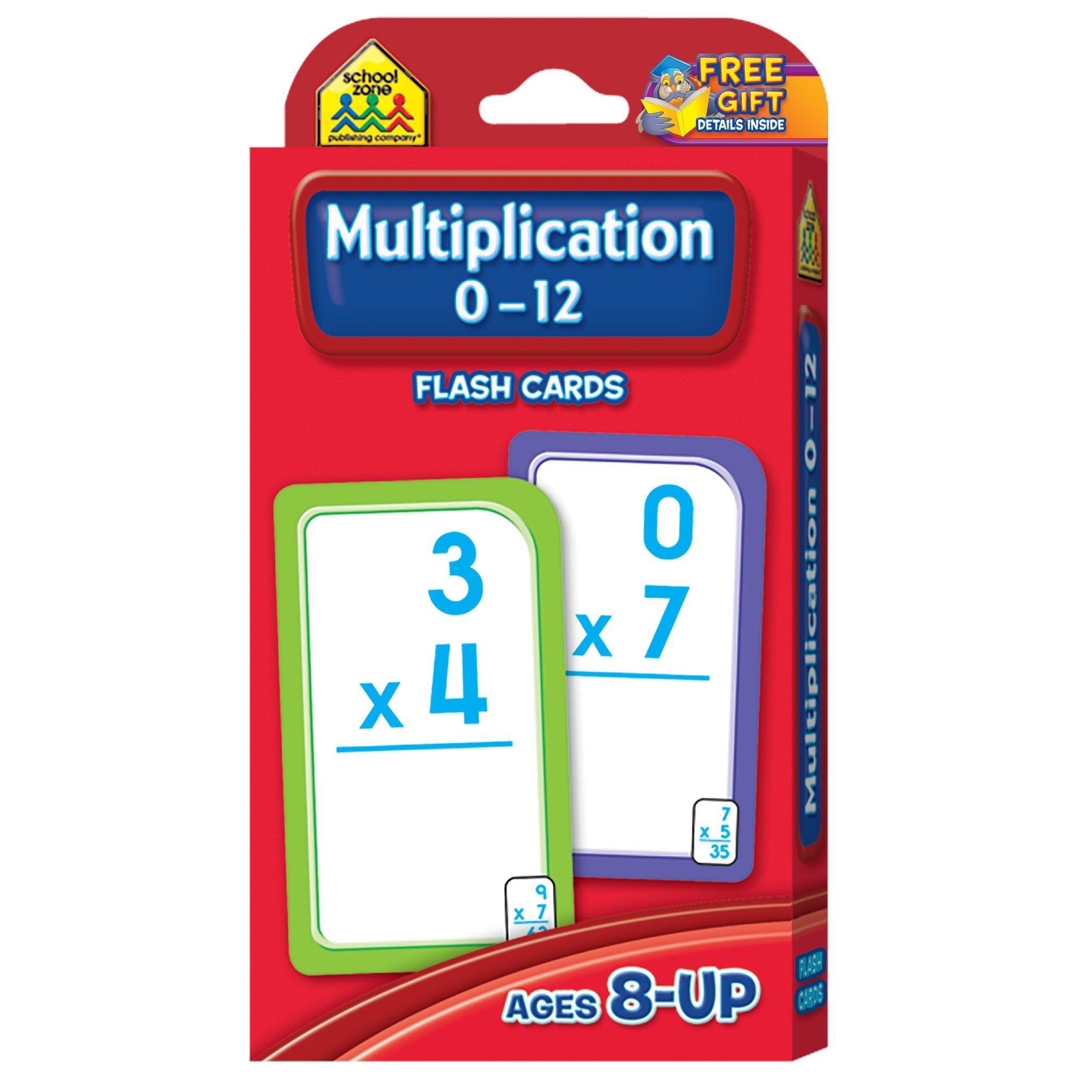 Multiplication 0-12 Flash Cards: School Zone Publishing Company ...