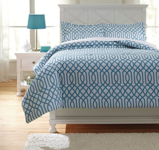 Green Includes Comforter /& 2 Shams Twin Size Ina Comforter Set Ashley Furniture Signature Design