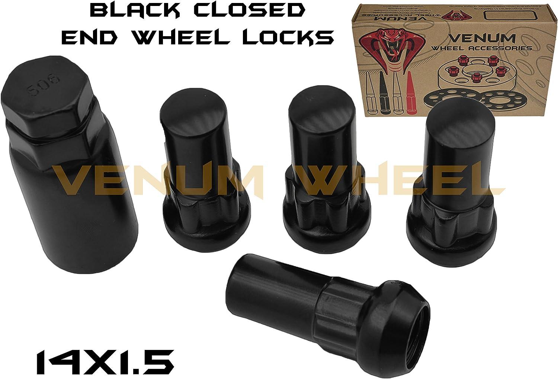 Precision Black Chrome Set of 16 Wheel Bolts /& 4 Locking Wheel Nuts for ƁMW X1 PN.SFP-16BM425B+B425B150