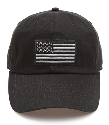 6a18a75d5a2 MIRMARU Tactical Operator USA Flag Cotton Low Profile Cap with Adjustable  Strap (Black)