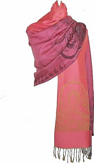 Motifs Roses itendance Etole /écharpe Pashmina et Soie