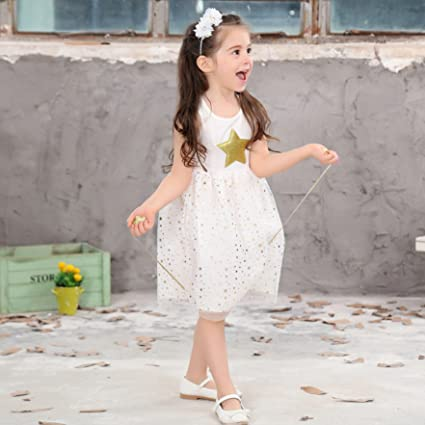 Morbuy Ropa de niñas, Estrella de Cinco Puntas Vestidos de Fiesta de Princesa Super Lindo