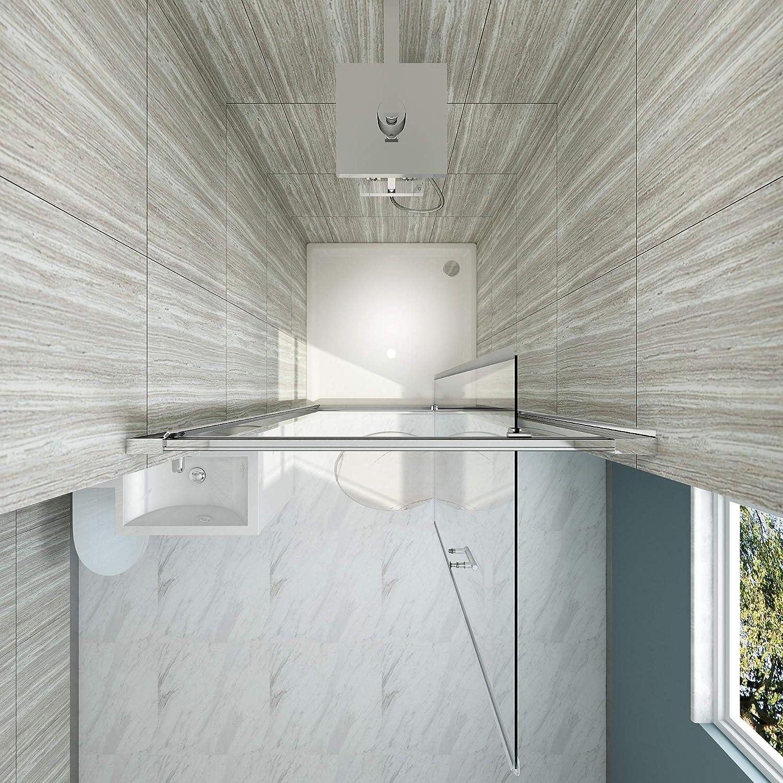 SIRHONA Porte de douche pivotante en niche Hauteur 185 paroi de douche extensible 76-80 cm