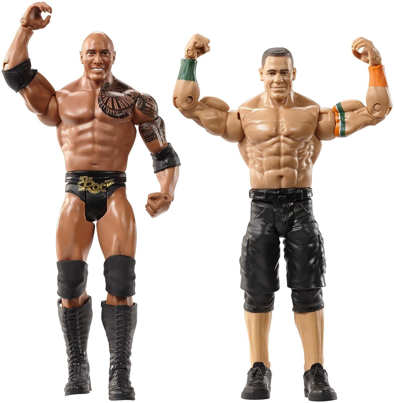 Amazon.com: WWE WrestleMania The Rock & John Cena Figures, 2 Pack ...