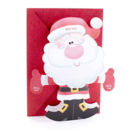 Amazon hallmark christmas greeting card for kid with song hallmark christmas greeting card for kid with song displayable santa plays up on the housetop m4hsunfo