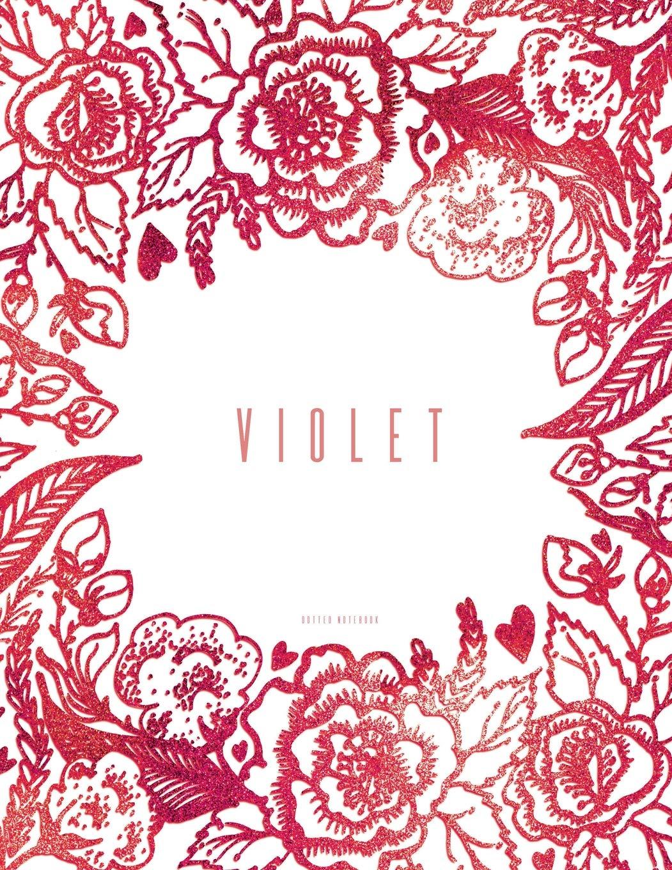 Violet. Dotted Notebook: Large Dot Grid Journal 8.5 x 11 pdf