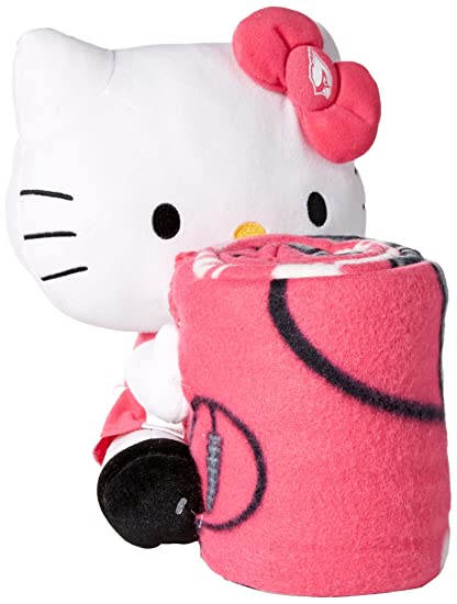 NFL Arizona Cardinals Hello Kitty Fleece Throw With Hugger 40 X 40 Awesome Pink Throw Blanket Canada