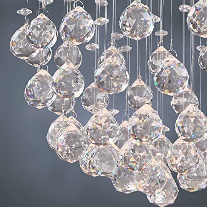 Sale! LightInTheBox Chandelier Luxury Modern Crystal Bulb Included 4 Lights, Pendant Lights Ceiling Light Fixture for Living Room, Dining Room,