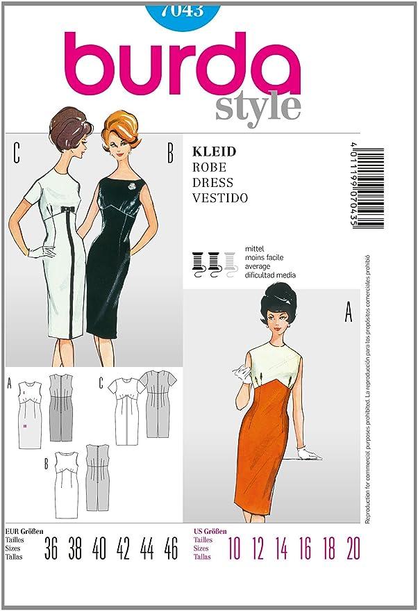 Burda patrón para vestido? Vintage (Tallas 36 - 46): Amazon.es: Hogar