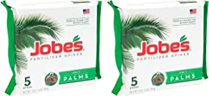 Jobe's Palm Tree Fertilizer Spikes 10-5-10 Time Release Fertilizer for All Outdoor Palm Trees, 5 Spikes Per Package (2-(Pack))