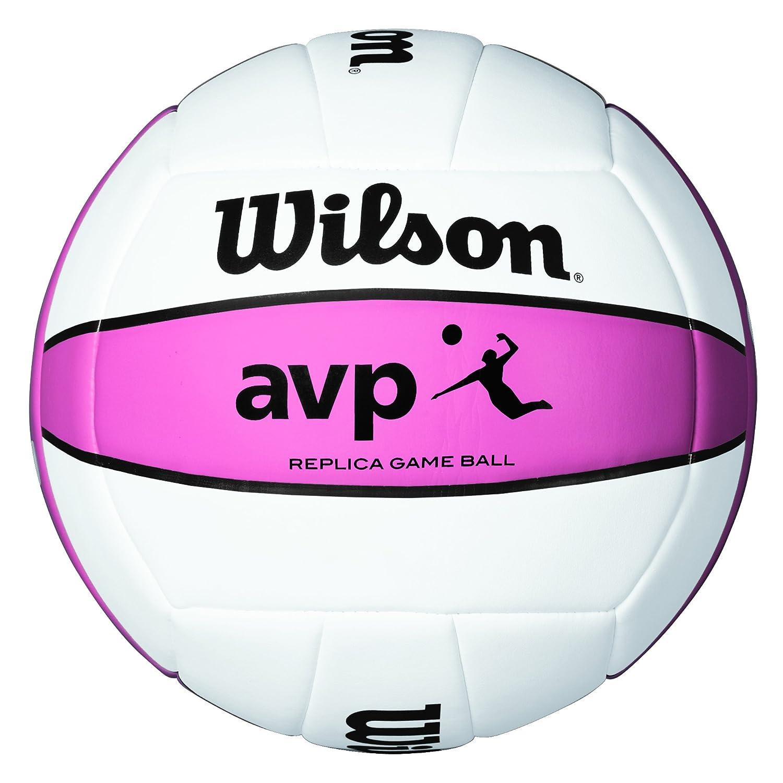 Wilson Ballon de Volleyball, Extérieur Pour Joueurs de Club AVP Replica Blanc/Jaune Wilson Teamsport