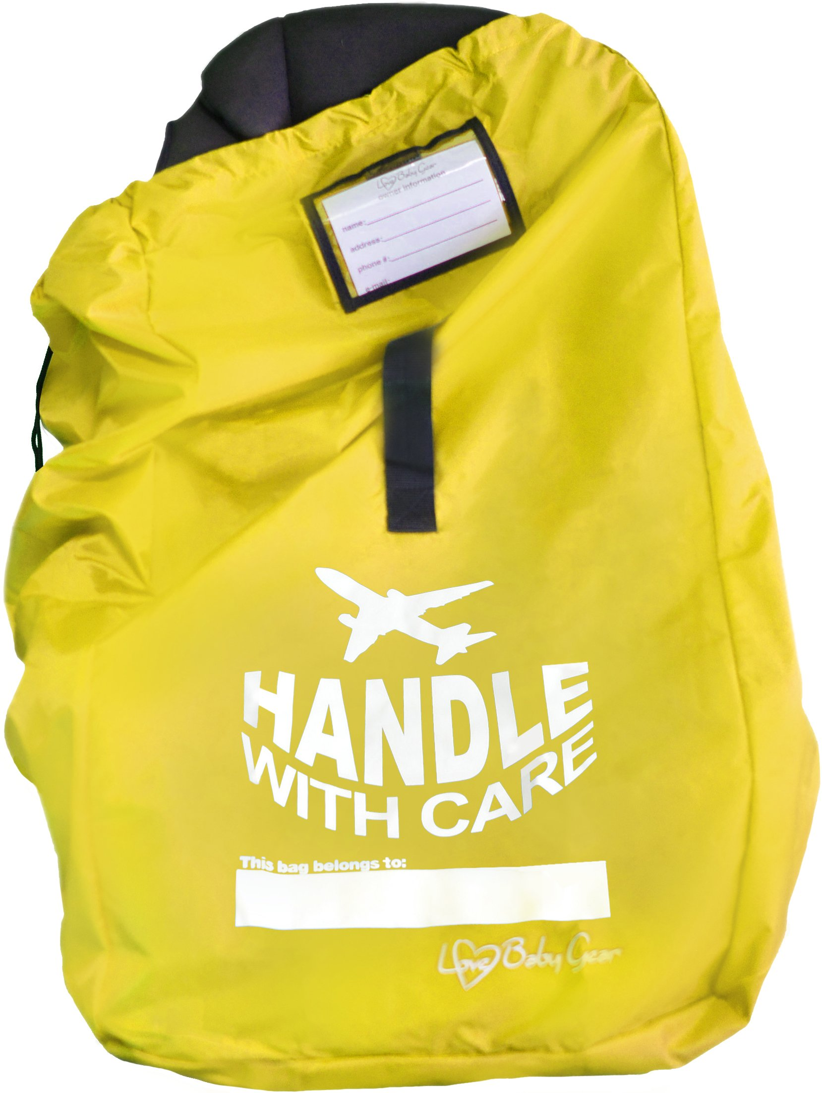Love Baby Gear Car Seat Gate Check Bag (yellow)