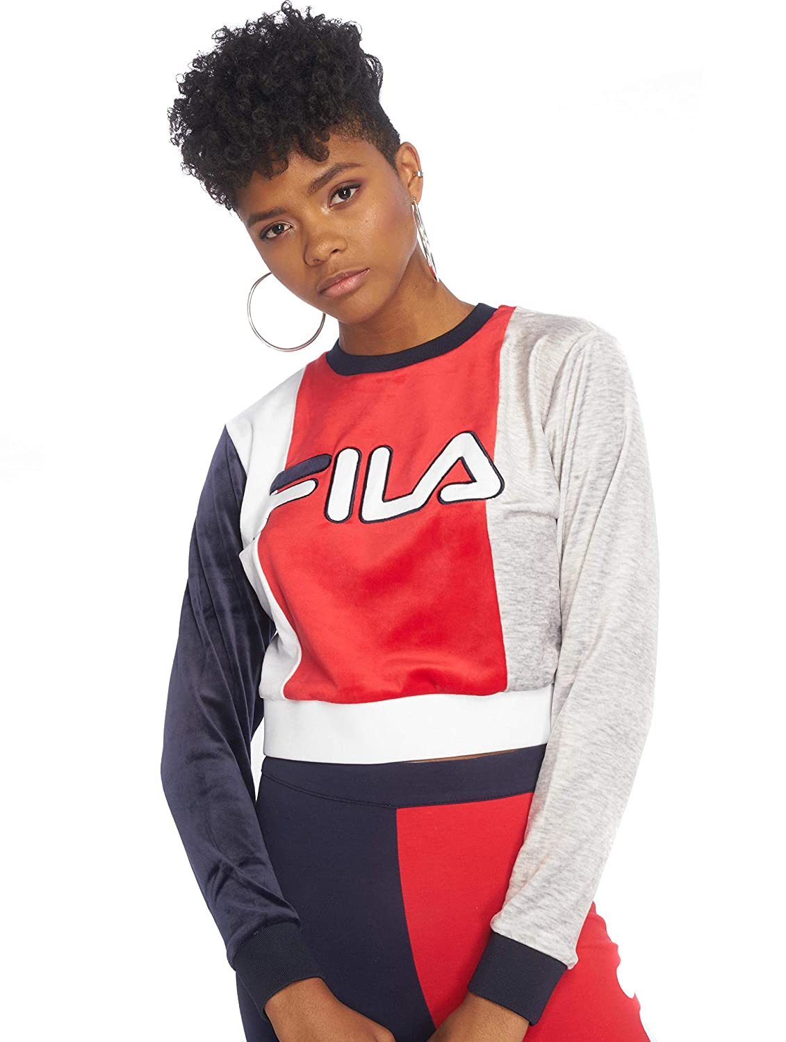 TALLA M. Fila Felpa Donna Women Antonietta volour Colour Block Crop Sweat 684243 002