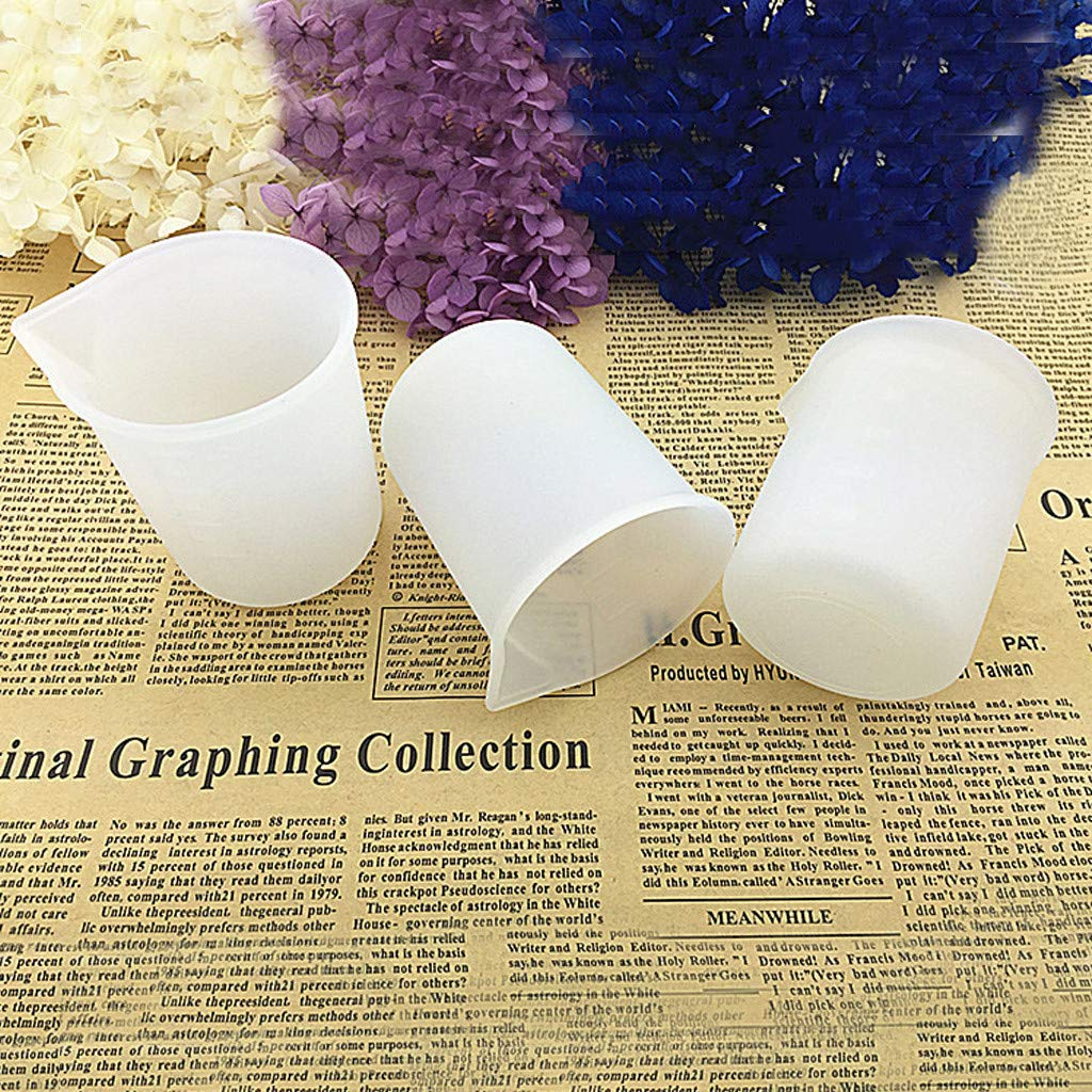 3PC Transser 3PCS 100 ml Silicone Measuring Cups for Resin Non-Stick Mixing Cups Glue Tools