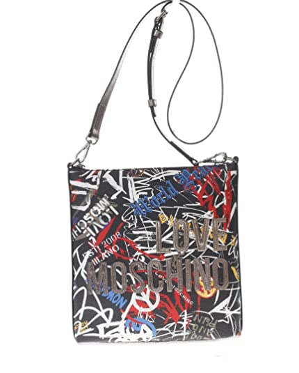 Love Tracolla Print Digital Pvc Donna Sacca Borsa Graffiti Moschino w6Hv7