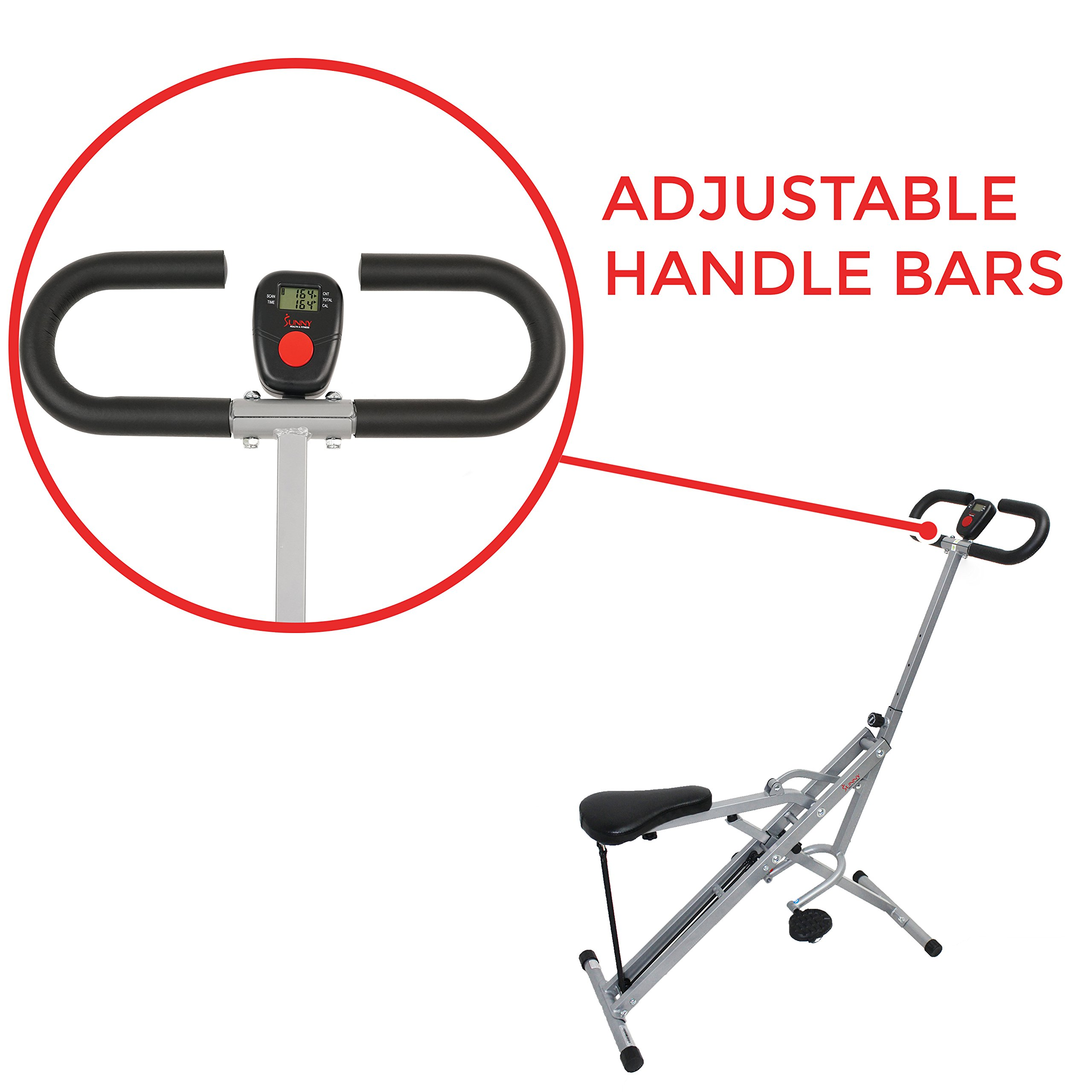 Sunny Health & Fitness Squat Assist Row-N-Ride Trainer for Squat Exercise and Glutes Workout by Sunny Health & Fitness (Image #6)