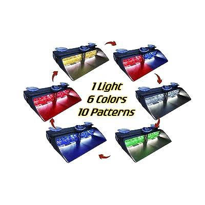 Warningworx LED Strobe High Intensity Law Enforcement Emergency Hazard Warning Lights Suction Cups Dash Window Interior: Automotive