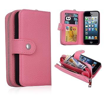 79cd1e229c Amazon | iPhone SEケース財布とスマホが一体化 アイフォン5/5s/se ...