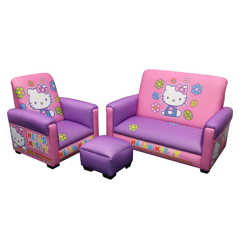 Amazon Hello Kitty Toddler Sofa Chair and Ottoman Set