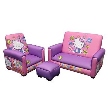 Amazoncom Hello Kitty Toddler Sofa Chair and Ottoman Set
