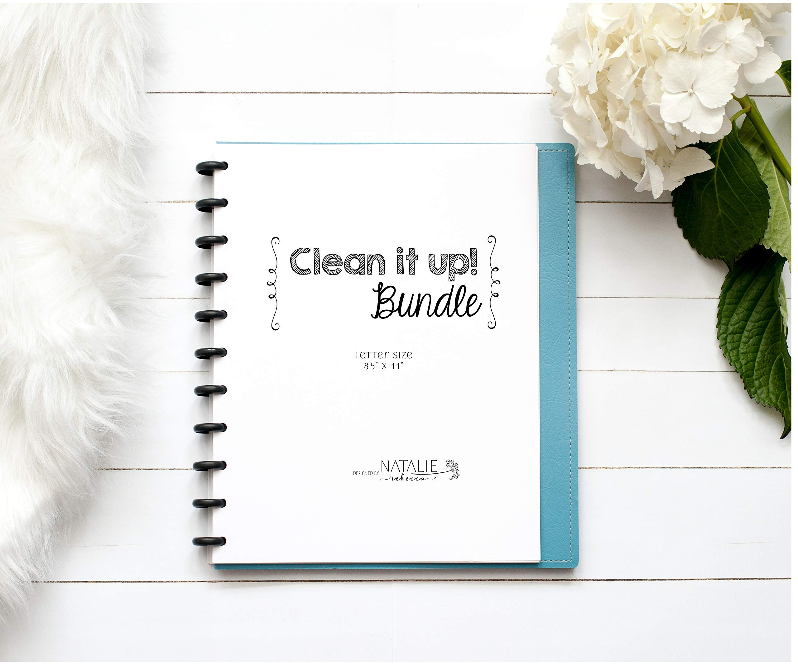 Cleaning Schedule Kit for Disc Bound Planners, Letter Size, 6 Month Supply, 8.5''x11''