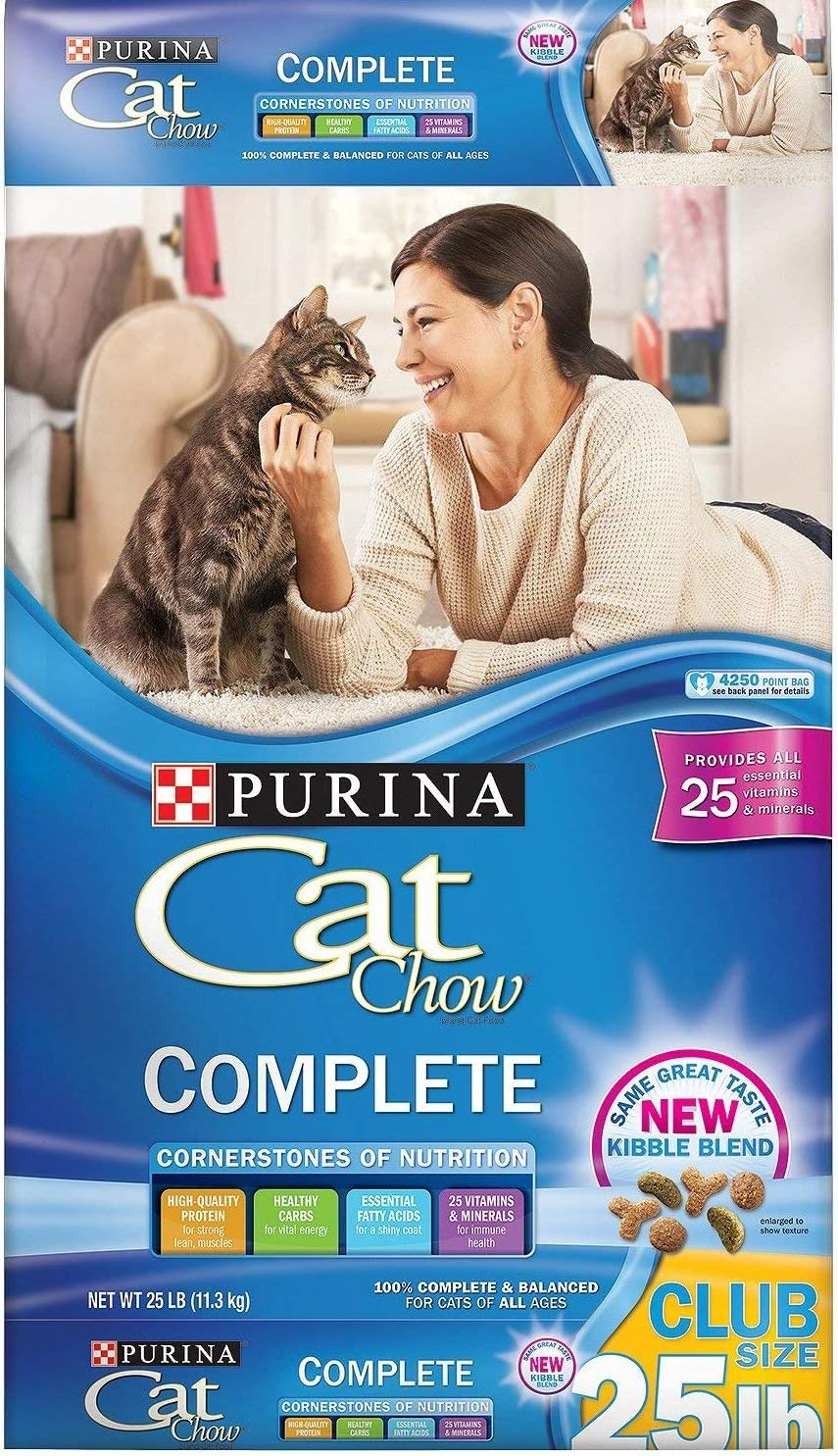 Purina Cat Chow Complete Dry Cat Food, 25 lb. Bag